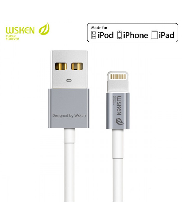 WSKEN Apple MFI Certified Metal Lightning Cable - Grey