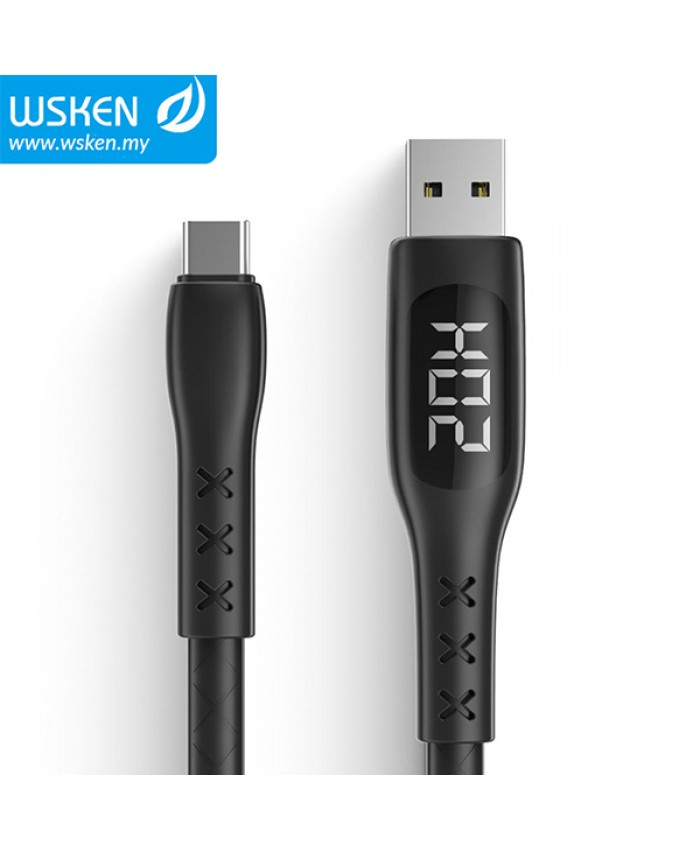 WSKEN Type-C 3A LED Smart Timing Power High Speed Charging & Data Sync Cable