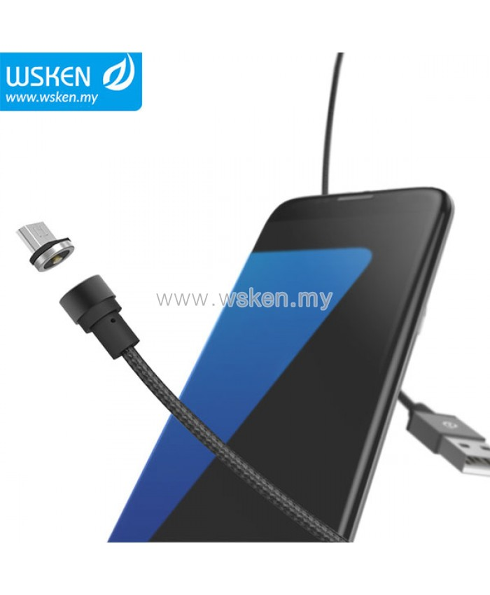 Wsken Micro Usb Lightning Type C 2 1a Round Magnetic X
