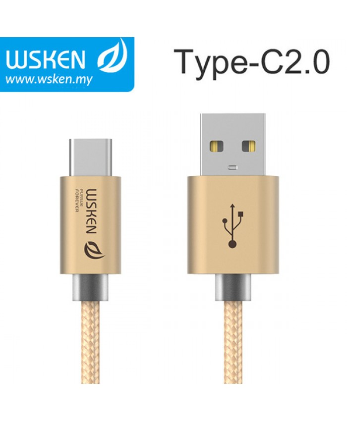 WSKEN Type C 2.0 USB Cable - Gold