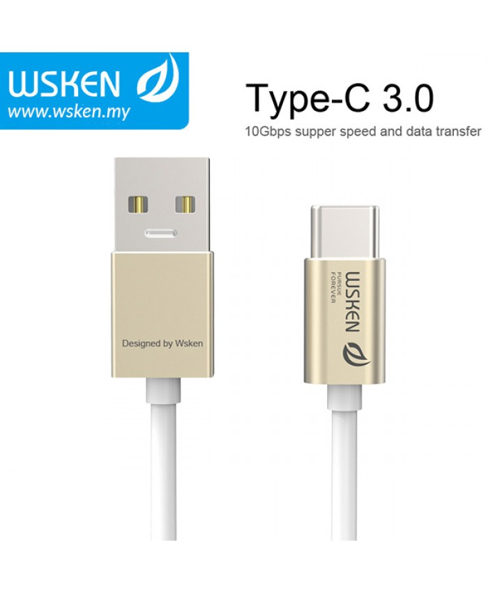WSKEN Type C 3.0 USB Cable - Gold