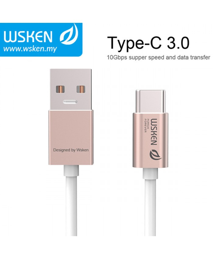 WSKEN Type C 3.0 USB Cable - Rose Gold