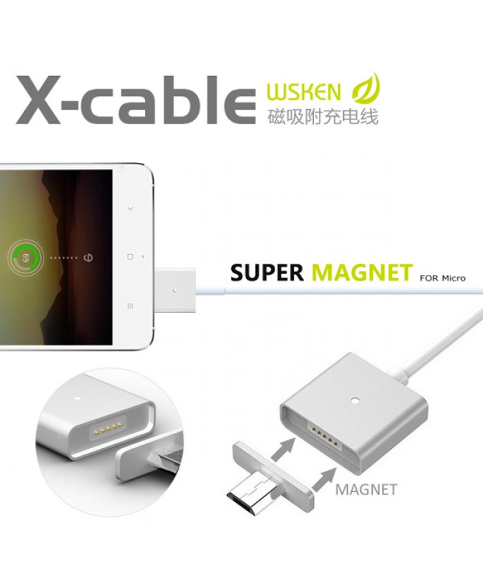 WSKEN Single Metal Magnetic Micro USB X-Cable